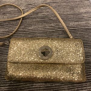 Kate Spade Gold Crossbody With Removable Strap